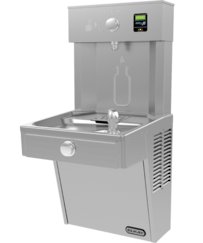 Vandal-Resistant Bottle Filler with Bubbler